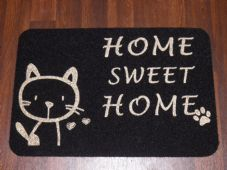 NON SLIP CATS DOORMATS 50X80CM RUBBER BACKING GOOD QUALITY ALL COLOURS BLACK